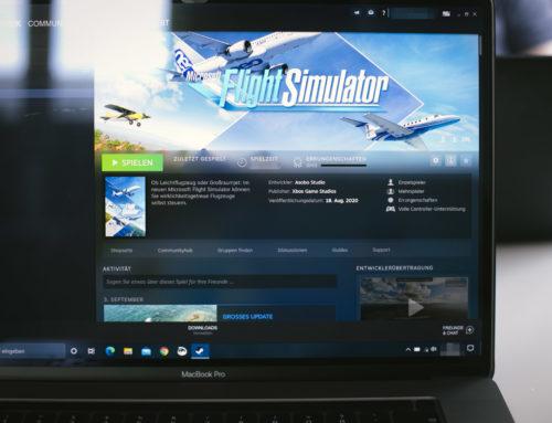 Flight Simulator 2020 (und ein wenig mehr) auf einem MacBook Pro